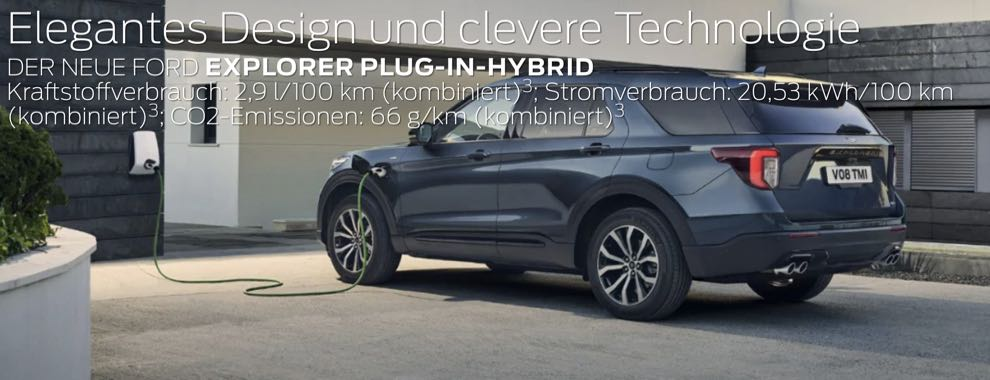 Der neue Ford Explorer Plug-in-Hybrid