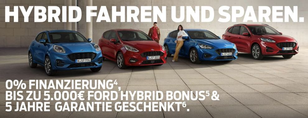 Die Ford-Hybrid-Aktionsmodelle zu Top-Konditionen