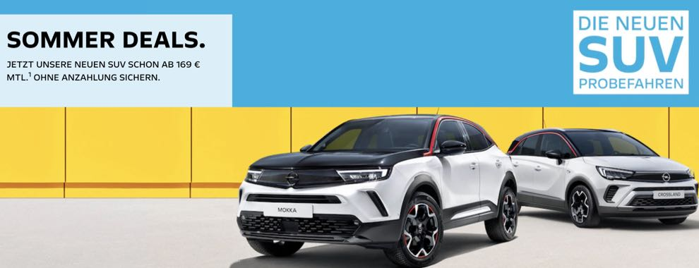 Opel Sommer-Deals