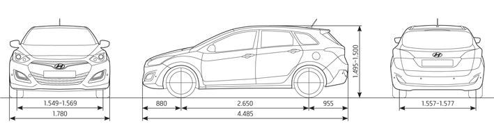 delta automobile hyundai neuwagen abmessungen. Black Bedroom Furniture Sets. Home Design Ideas