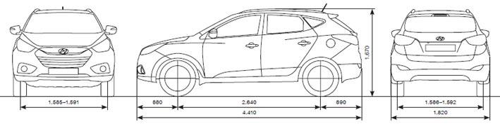 Kuga Dimensions >> DELTA Automobile - Hyundai Neuwagen Abmessungen